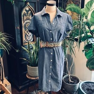 Tommy Hilfiger Chambray button down shirt dress